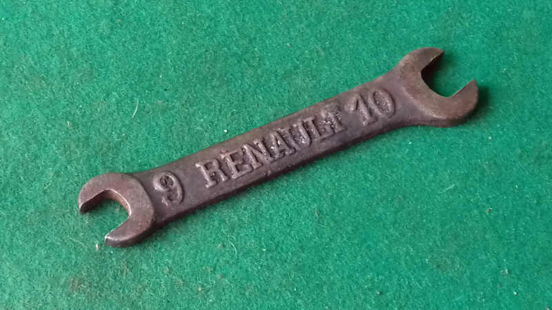 VINTAGE RENAULT TOOLKIT SPANNER 9 X 10 297382C - Click Image to Close